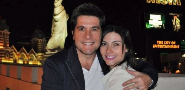 Daniel viajou com a esposa, a bailarina Aline de Pdua