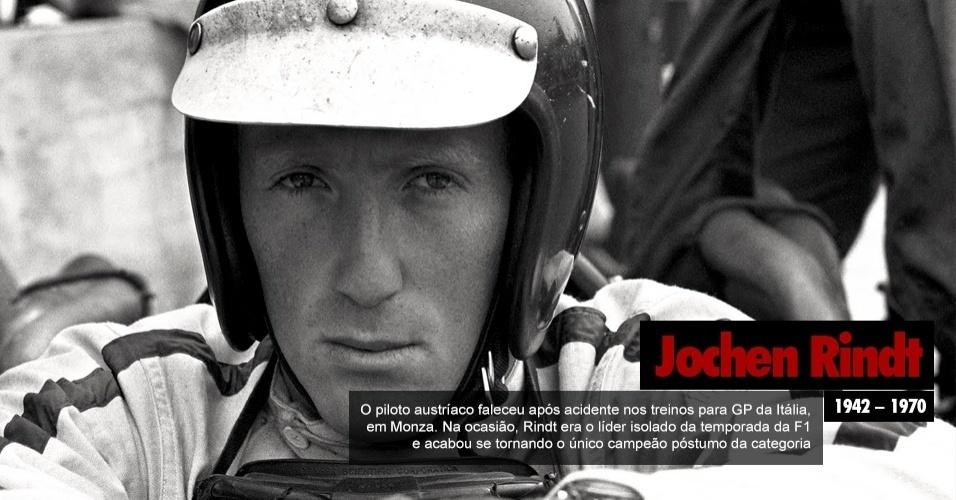 Jochen Rindt, piloto austríaco que faleceu após acidente nos treinos para GP da Itália, em Monza