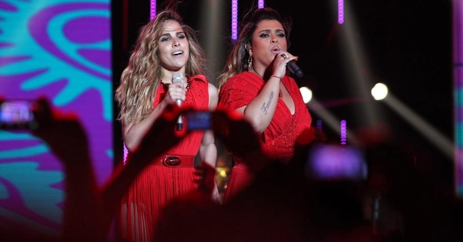 A cantora Wanessa canta com Preta Gil na gravação do seu segundo DVD de carreira na noite deste sábado no palco do HSBC Brasil, Em São Paulo. Wanessa apresentou novas canções e sucessos como