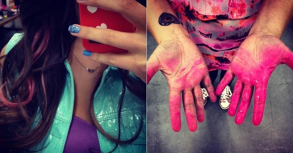 Bruna Marquezine pinta o cabelo de rosa (16/11/2012)