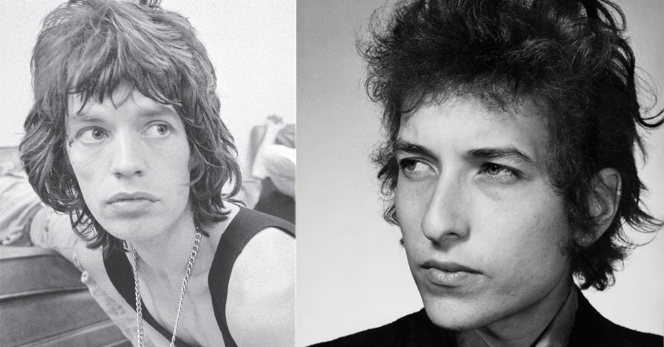 Mick Jagger e Bob Dylan