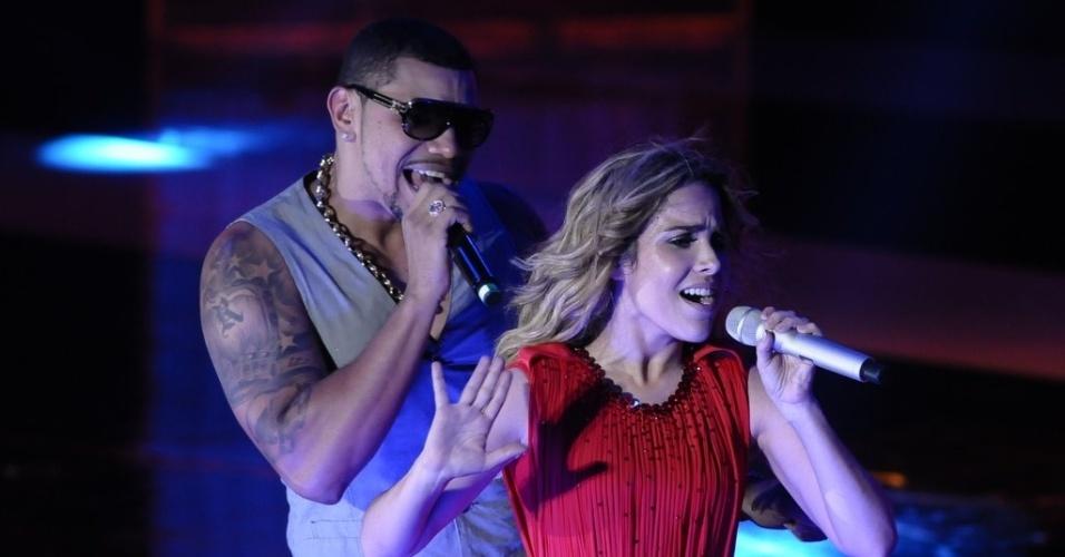 Wanessa e Naldo cantam juntos na gravação do DVD da cantora em SP (15/11/12)