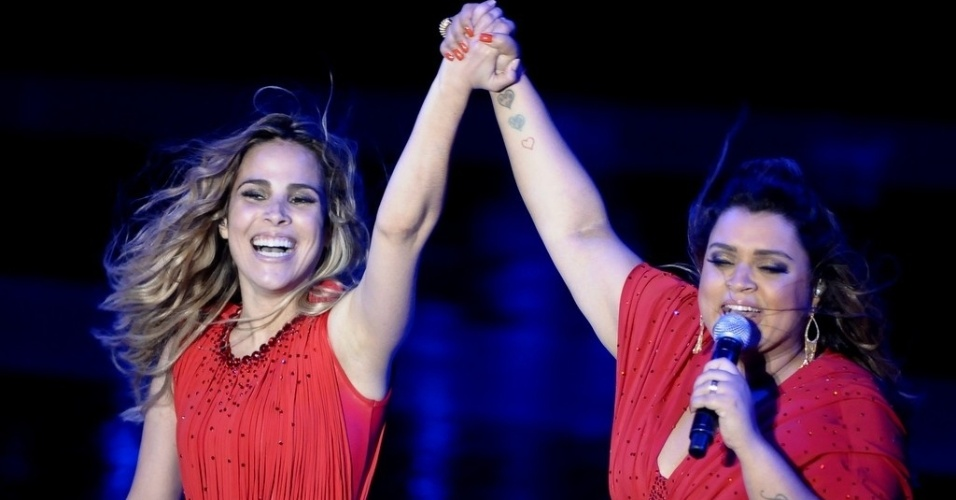 Wanessa e Preta Gil cantam juntas no HSBC Brasil, em São Paulo (15/11/12)