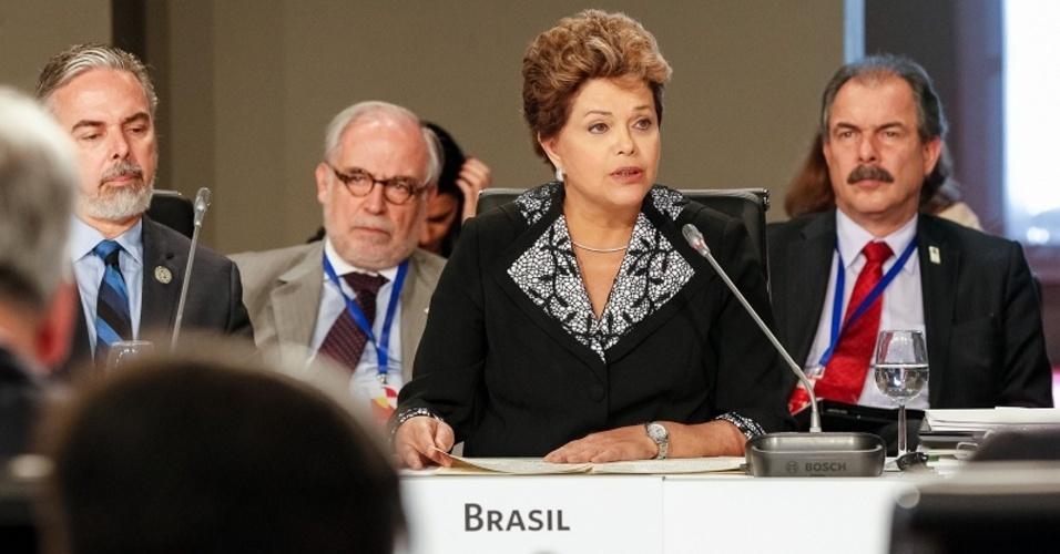 17.nov.2012 - A presidente Dilma Rousseff atacou neste sábado (17) as políticas de austeridade para enfrentar a crise e defendeu a adoção de medidas de estímulo ao crescimento e à inclusão social durante seu discurso na XXII Cúpula Ibero-Americana. Dilma sustentou enfaticamente que o Brasil defende que a consolidação fiscal exagerada e simultânea não é a melhor resposta à crise mundial