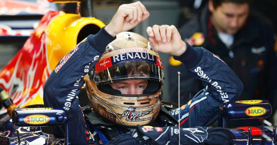 Sebastian Vettel foi o melhor do treino deste sábado e larga na pole position no GP do Texas