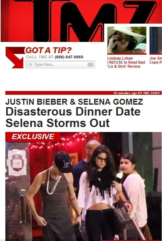 Selena Gomez deixa restaurante em que jantou com Justin Bieber (16/11/12)