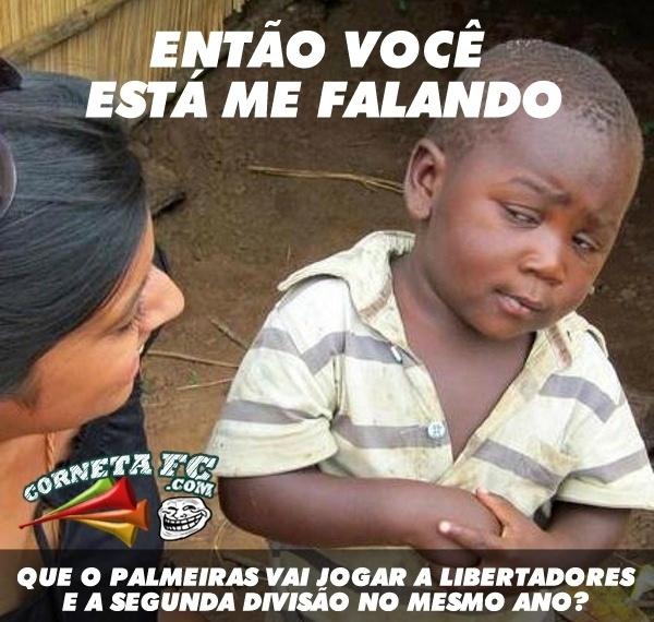 Garoto fica confuso com o futuro do Palmeiras