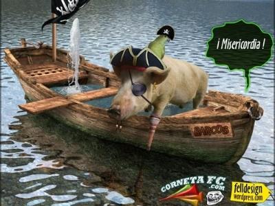 Porco afunda com o Barco(s) do Palmeiras