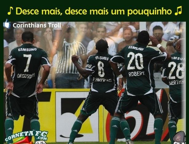 Queda do Palmeiras já tem coreografia ensaiada
