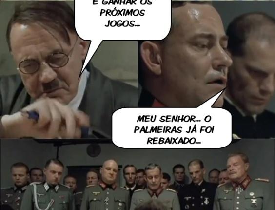 Corneta FC: Hitler entra em desespero ao saber que Palmeiras foi rebaixado