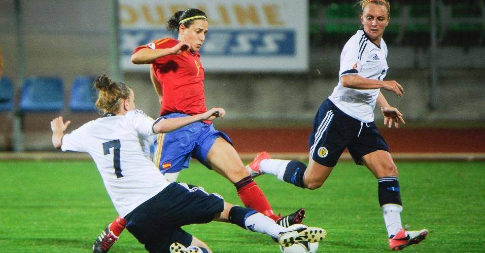 Verónica Boquete em ação na Eurocopa feminina, em outubro deste ano
