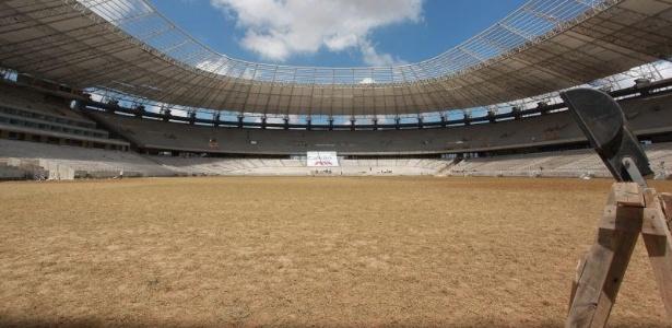 Gramado do Castelão foi plantado e estará pronto para uso na segunda quinzena de janeiro de 2013
