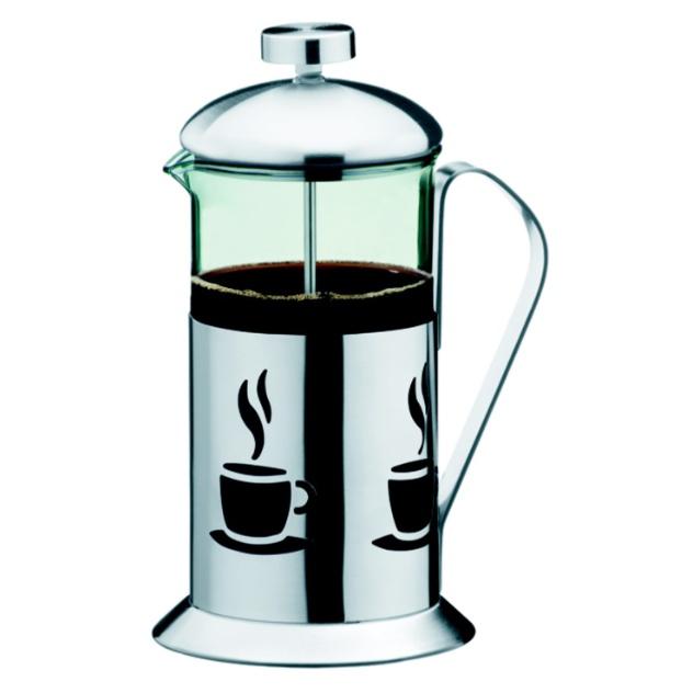 A cafeteira Brinox é do tipo extração francesa e tem capacidade para 660 ml. Sua estrutura é de inox e o corpo feito de vidro borosilicato. O item pode ser comprado na loja Multicoisas, do Santana Parque Shopping, em São Paulo (11 2208-7785) por R$ 89,90 I Preços pesquisados em novembro de 2012 e sujeitos a alterações
