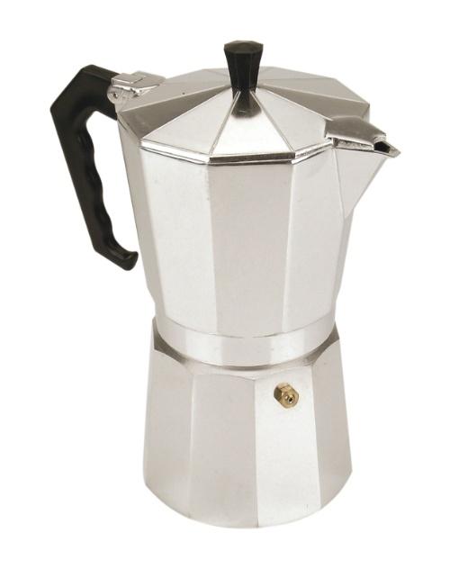 A cafeteira italiana da Dynasty Kitchen é fabricada em alumínio e serve até seis xícaras de café. Na Du Chapéu (11 2126-5700), o produto custa R$ 33,80 I Preços pesquisados em novembro de 2012 e sujeitos a alterações
