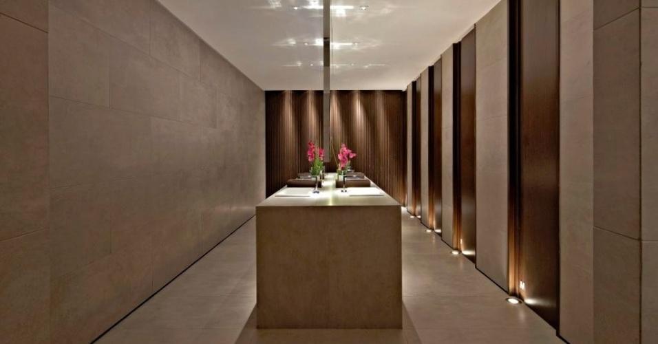 Categoria Mostra, prêmios Nacional e Regional - Sudeste (Belo Horizonte): banheiro criado por Ligia Miranda, Fernanda Sperb e Graziella Nicolai. O prêmio