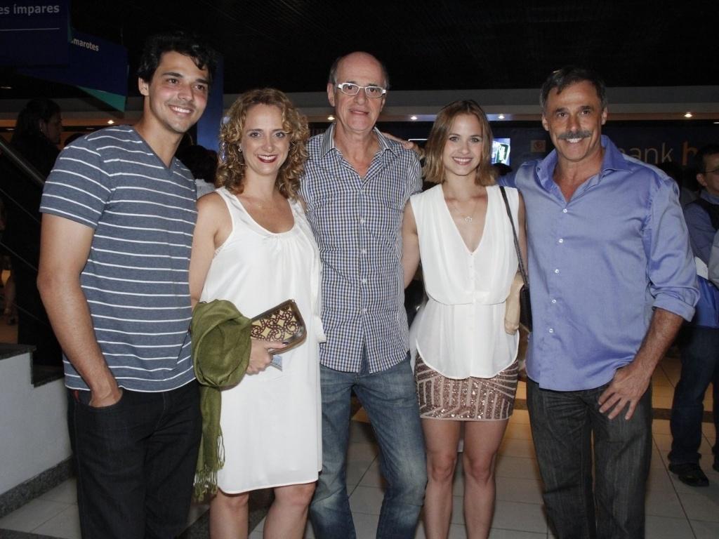 Letícia Isnard, Marcos Caruso, Luiza Valdetaro e Oscar Magrini participam de evento de fim de ano da Globo (21/11/12)