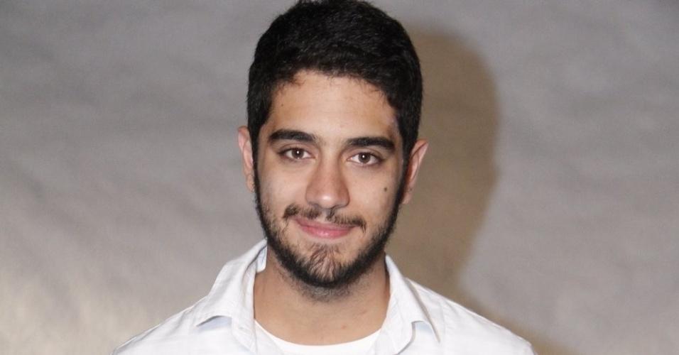 O ator teen Miguel Rômulo participa da gravação do especial de fim de ano na Globo, com show de Roberto Carlos (21/11/12)