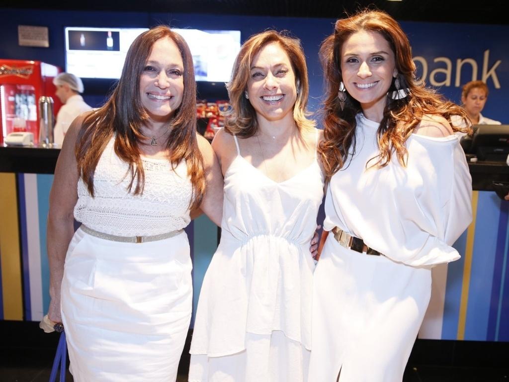 Susana Vieira, Cissa Guimarães e Giovanna Antonelli participam da gravação do especial
