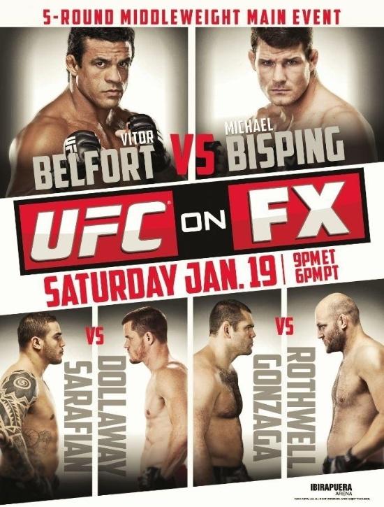 UFC divulga o pôster do UFC de janeiro no Brasil, dia 19 de janeiro, no Ginásio do Ibirapuera