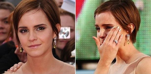 """É inevitável: na sua formatura você deve se emocionar e derrubar algumas lágrimas, por isso, siga os passos de Emma Watson - que não conteve a emoção na première de """"Harry Potter e as Relíquias da Morte: Parte 2"""" em 2011 - e invista em produtos fixadores e de longa duração para não acabar com o rosto borrado"""