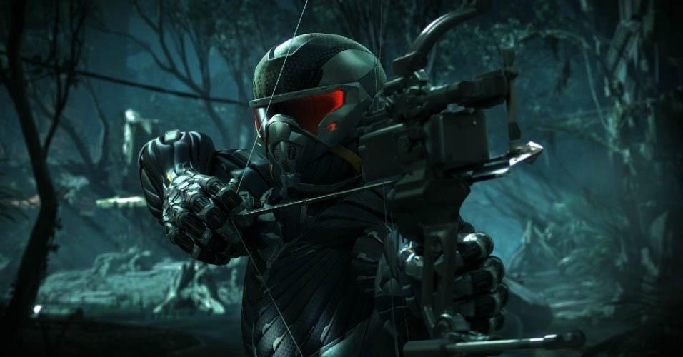 """A cidade de Nova York foi tomada por uma densa floresta e desta vez a armadura do Profeta em """"Crysis 3"""" será posta à prova contra os alienígenas que invadiram a Terra"""