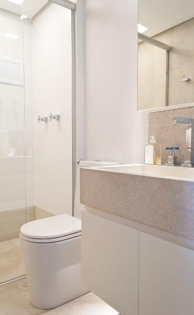 Aplique truques e dicas de decoração para ampliar as dimensões do seu banheir -> Cuba Para Banheiro Areia