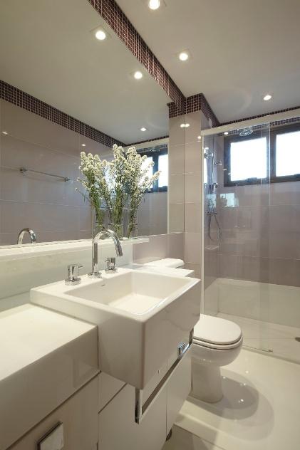 decoracao de ambientes pequenos banheiros:dicas de decoração para ampliar as dimensões do seu banheiro