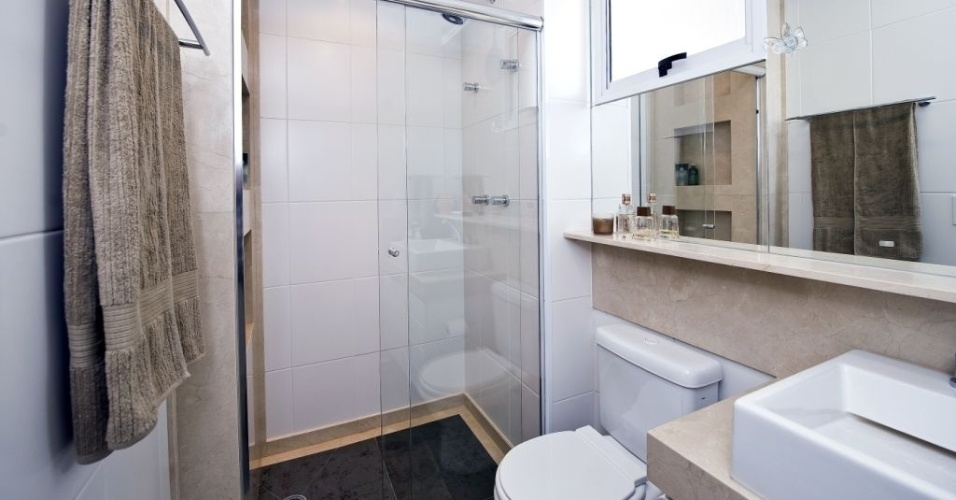 Banheiros pequenos dicas de decoração para quem tem pouco espaço  BOL Fotos -> Decorar Banheiro Masculino