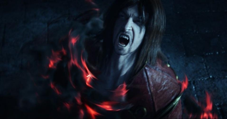 """""""Castlevania: Lords of Shadow 2"""" retoma a sinistra jornada do herói Gabriel Belmont - agora dotado de estranhos poderes"""