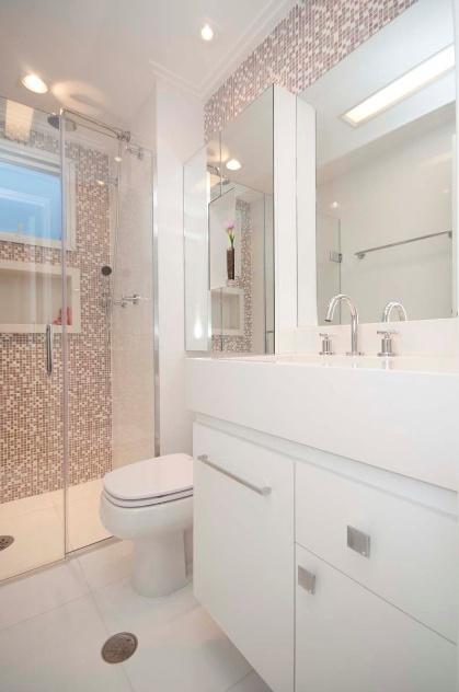 +1000 imagens sobre Decoração Banheiro no Pinterest  Madeira, Apartamento mi -> Banheiro Pequeno Bancada