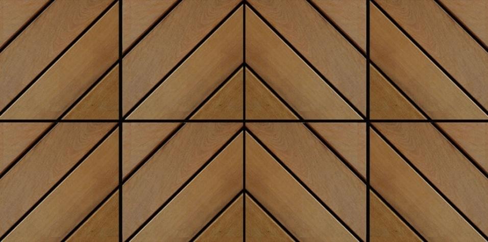 Com desenho diagonal, o deck modular Dubai - da Flexdeck (www.flexdeck.com.br) - é instalado sobre base plástica de polipropileno através de sistema de encaixe lateral das placas. Oferecido em madeira cumaru ou itaúba, é vendido em caixas de 10 placas com dimensões 30 cm x 30 cm, cada. O fabricante oferece cinco anos de garantia e o piso custa R$ 220 (caixa)