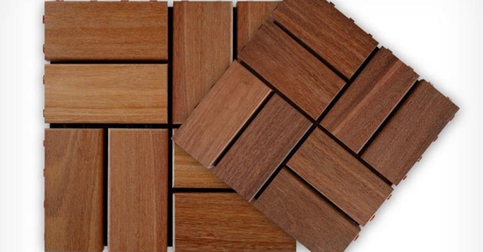 Com instalação por encaixe macho/fêmea sobre base plástica em polipropileno, o deck Córdoba é composto por placas com dimensões 30 cm x 30 cm. Fornecido pela Flexdeck (www.flexdeck.com.br), o produto é vendido por R$ 119,90 (a caixa com 10 unidades)