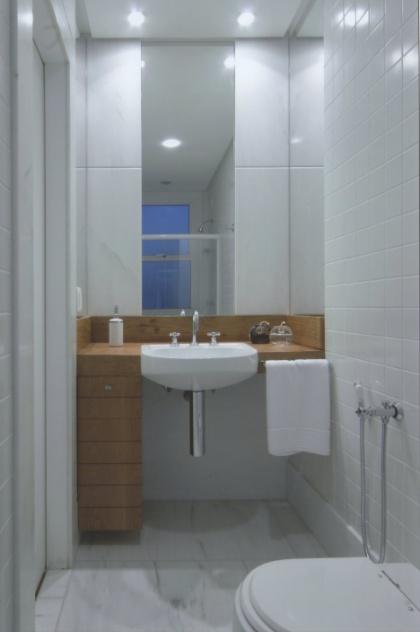 decoracao de apartamentos pequenos de baixo custo:dicas de decoração para ampliar as dimensões do seu banheiro – Casa