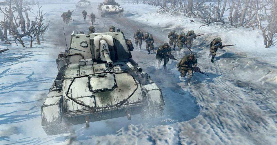 """""""Company of Heroes 2"""" é um jogo de estratégia para PC e traz como novidade o Exército Vermelho, da Rússia"""