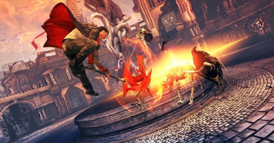 """""""DmC Devil May Cry"""" é ousada aposta da Capcom para revigorar a franquia, apresentando uma nova versão do popular Dante"""
