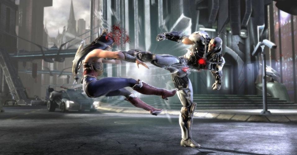 """Dos criadores de """"Mortal Kombat"""", """"Injustice"""" traz lutas entre heróis e vilões da DC Comics"""