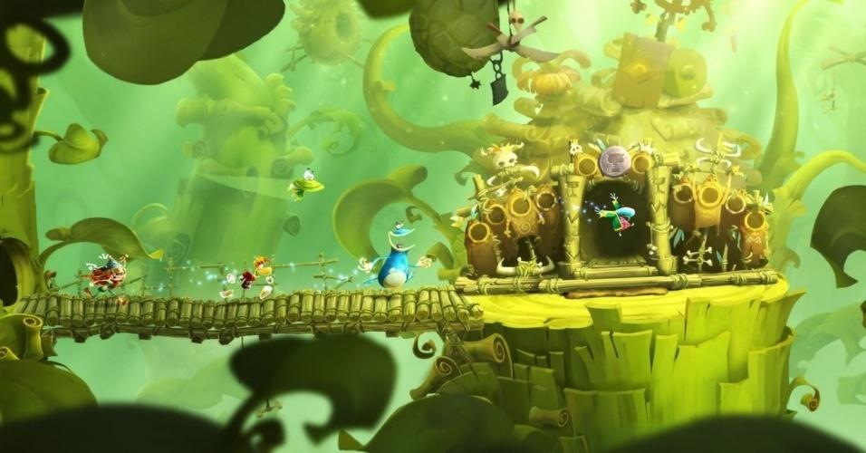 """Exclusivo para Wii U, """"Rayman Legends"""" é próxima aventura do herói desmembrado da Ubisoft"""