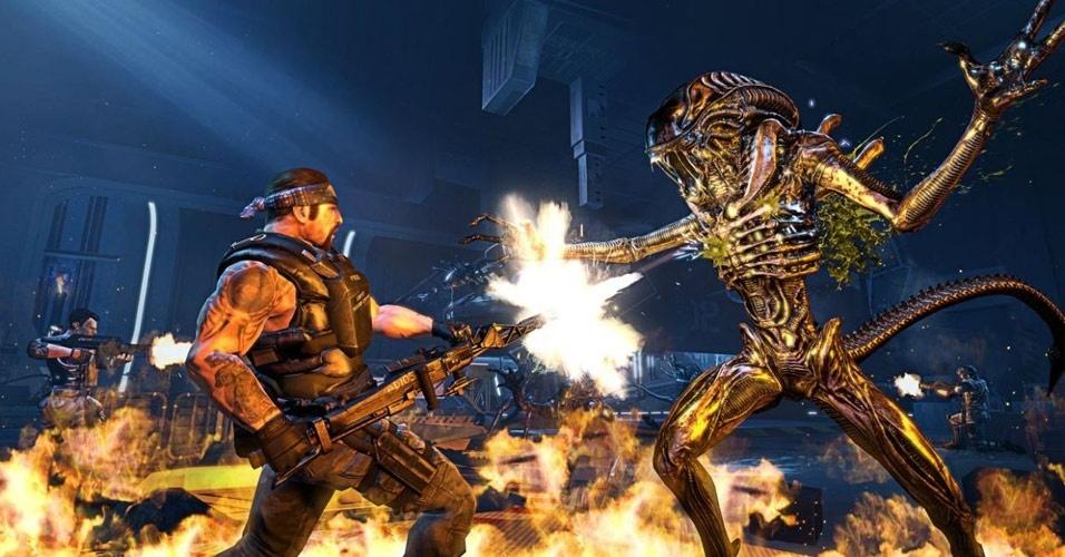 """Fuzileiros espaciais enfrentarão o terror em """"Aliens: Colonial Marines"""", para PC, PS3, Xbox 360 e Wii U"""