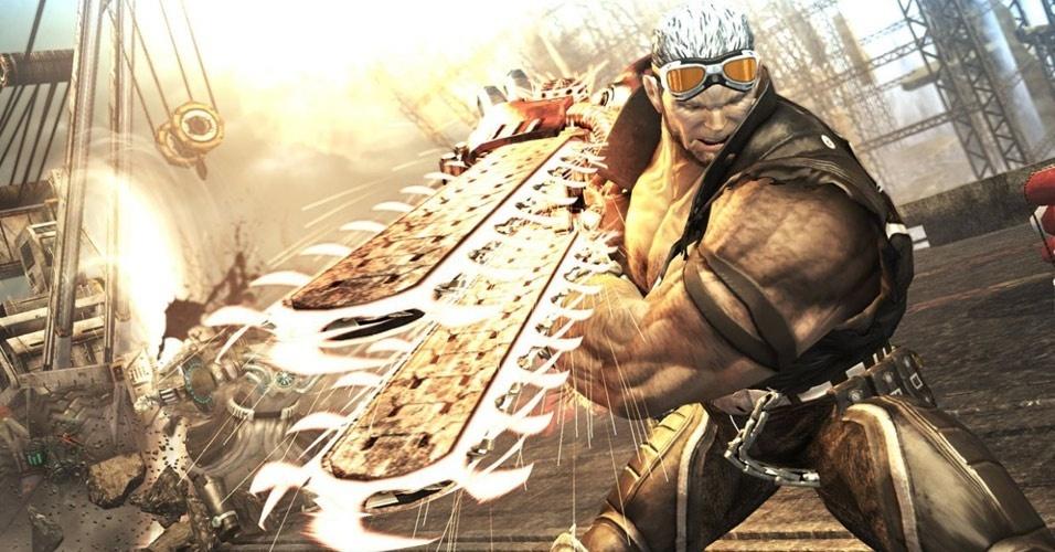 """Já lançado no Japão, o game de pancadaria """"Anarchy Reigns"""" traz de volta o grandalhão Jack, de """"Mad World"""""""