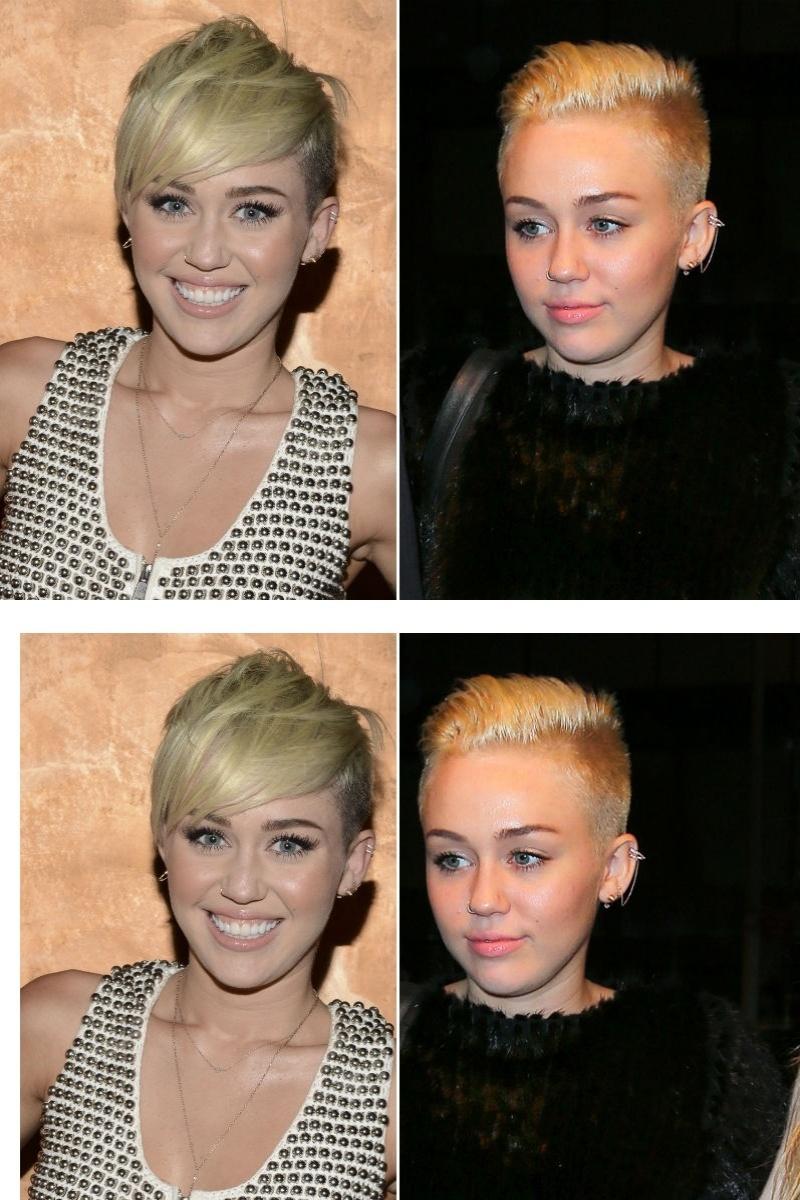 Miley Cyrus com cabelos mais curtos