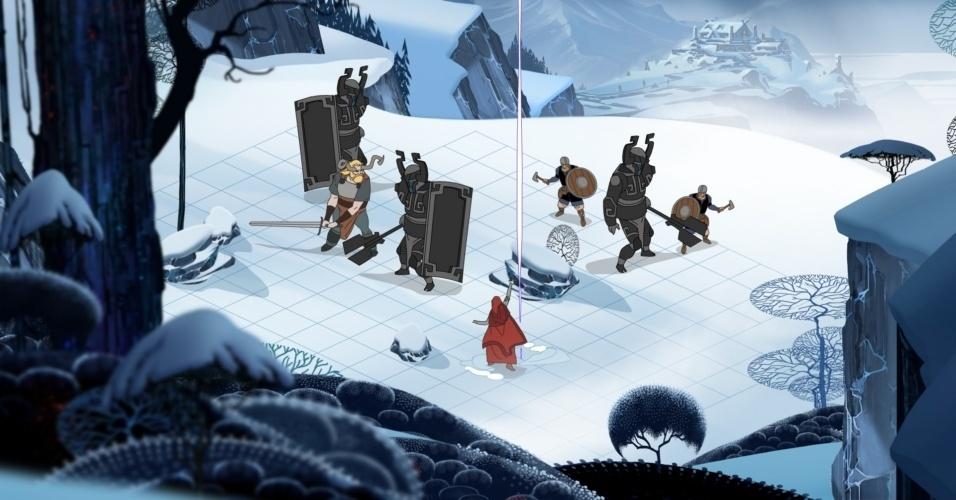 """O RPG tático com temática viking """"The Banner Saga"""" tem trio de desenvolvedores que sairam da Bioware"""