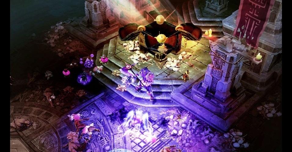 """Para PS3, X360 e PC, o RPG """"Sacred 3"""" terá visão isométrica, interação entre personagens e muitos combates"""