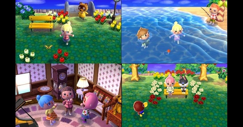 """Passear pela praça, ir à praia ou se encontrar com os amigos: as opções serão variadas em """"Animal Crossing: New Leaf"""" para 3DS"""