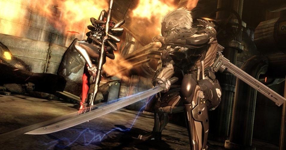 """Produzido pela Platinum Games, """"Metal Gear Rising"""" dispensa furtividade e parte para ação frenética"""