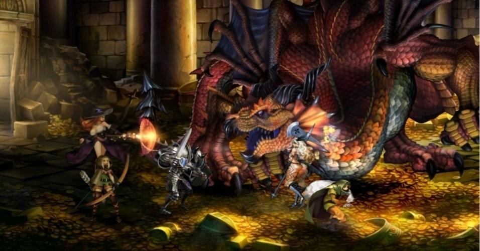 """RPG online """"Dragon's Crown"""" promete seis classes de personagens em um universo medieval desenvolvido pelos criadores de """"Odin Sphere"""""""