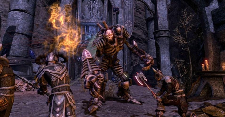 """""""The Elder Scrolls Online"""" é uma nova experiência dentro do mundo fantástico de jogos como """"Skyrim"""" e """"Oblivion"""""""