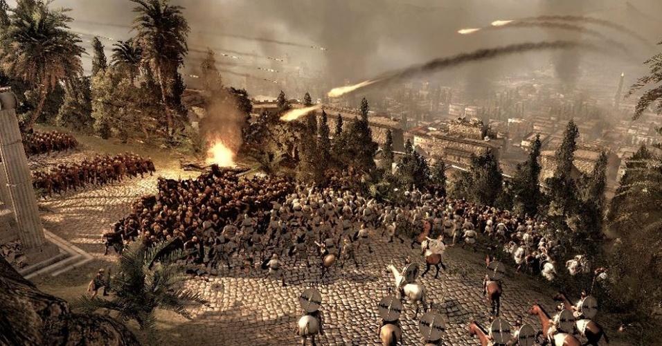 """""""Total War: Rome II"""" será exclusivo para PC e oferecerá um roteiro que se modifica conforme as escolhas feitas na jornada"""
