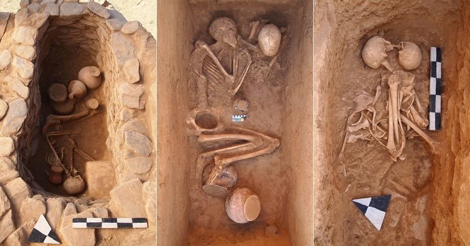 """23.nov.2012 - Arqueólogos italianos descobriram túmulos de mais de 3.000 anos no vale do Swat, no noroeste do Paquistão, sugerindo que existiam ritos funerários complexos nesta região controlada pelos talibãs. A missão arqueológica não encontrou evidências de armas, apenas fragmentos de ferro, """"um dos rastros mais antigos deste metal"""" na região"""