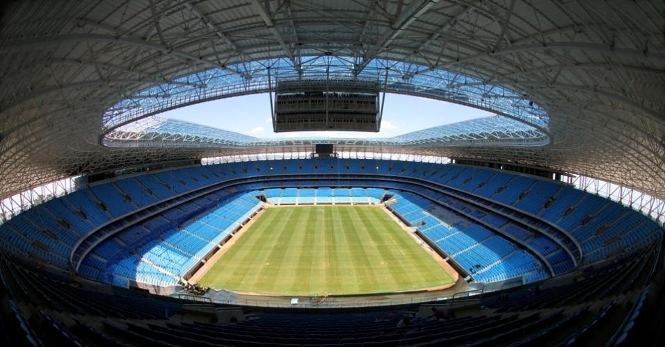 Arena do Grêmio em fase final de construção na zona norte de Porto Alegre