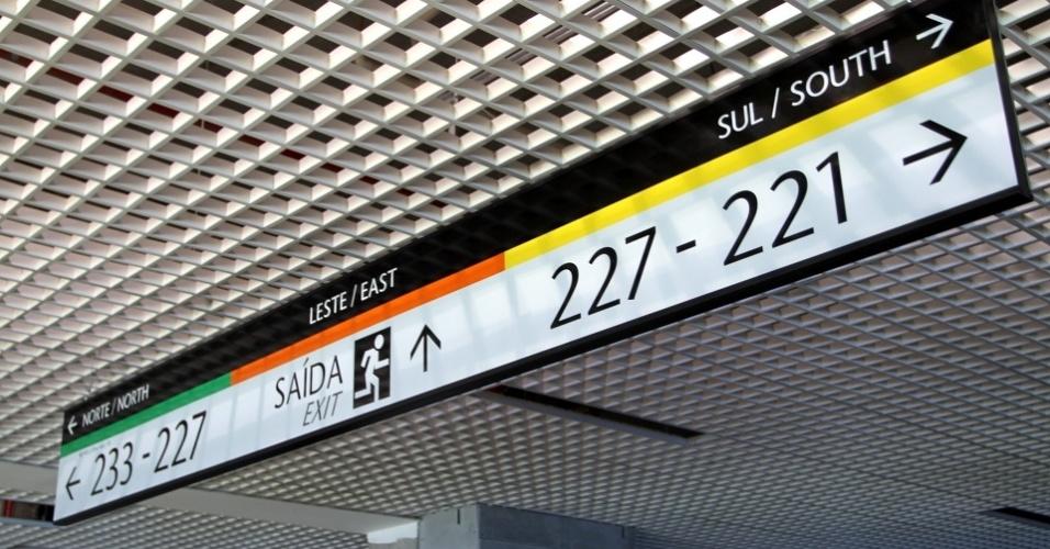 Indicações para público na Arena do Grêmio, em fase final de construção